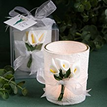 fashioncraft-calla-lilly-wedding-favor-candles Candle Wedding Favors