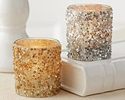 glitter-gold-silver-tealight-holder Candle Wedding Favors