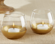 gold-dipped-glass-votive Candle Wedding Favors