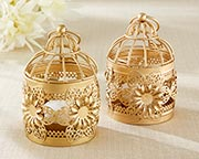 gold-floral-lantern Candle Wedding Favors
