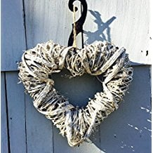 heart-welcome-wreath 70+ Beach Christmas Wreaths and Nautical Wreaths