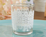 lace-glass-tealight-holder Candle Wedding Favors