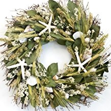 nantucket-starfish-beach-wreath-20 70+ Beach Christmas Wreaths and Nautical Wreaths