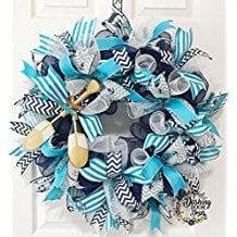 nautical-sailboat-wreath 70+ Beach Christmas Wreaths and Nautical Wreaths