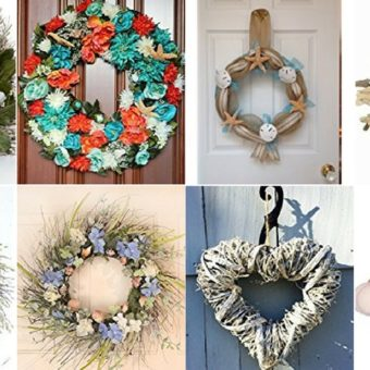 outdoor beach wreaths