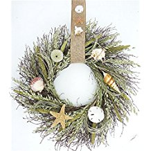pawleys-seashell-summer-wreath 70+ Beach Christmas Wreaths and Nautical Wreaths