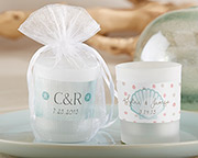personalized-frosted-glass-votive Candle Wedding Favors