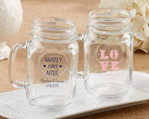 personalized-wedding-mason-jar-mugs Mason Jar Wedding Favors