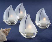 sailboat-tealight-holders Candle Wedding Favors