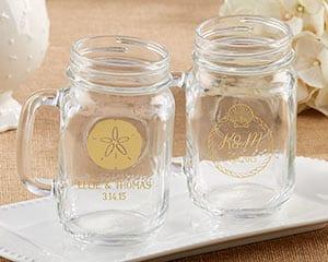 sand-dollar-beach-mason-jar-16oz-mug-favors Mason Jar Wedding Favors