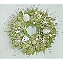 santee-natural-seashell-wreath-22 70+ Beach Christmas Wreaths and Nautical Wreaths