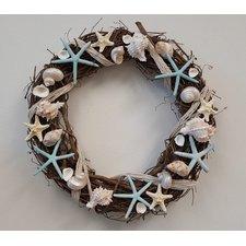 seashell-wreath-18 Beach Christmas Wreaths