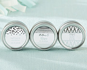 silver-foil-candle-tins-travel Candle Wedding Favors
