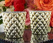 textured-gold-votive-holder Candle Wedding Favors