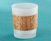 tropical-chic-gold-glitz-cork-tea-light Candle Wedding Favors
