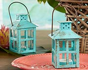 vintage-blue-lantern-favor Candle Wedding Favors