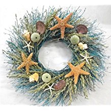 walk-on-the-beach-summer-door-wreath-22 70+ Beach Christmas Wreaths and Nautical Wreaths