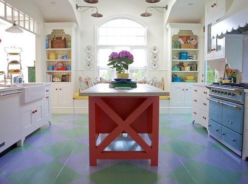 Beach-Cottage-Kitchen-by-Alison-Kandler-Interior-Design 101 Beautiful Beach Cottage Kitchens