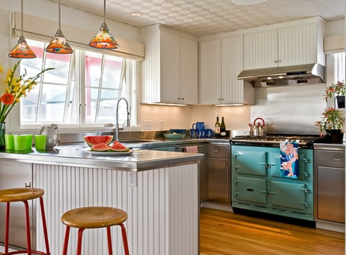 Beach-Cottage-Kitchen-by-Whitten-Architects 101 Beautiful Beach Cottage Kitchens