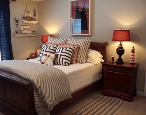 Bedroom-Design-by-Kim-Nichols 101 Beach Themed Bedroom Ideas