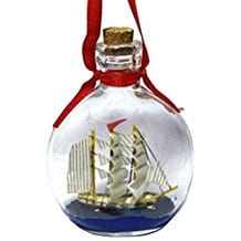 Boat-in-a-Bottle-Ornament Ship In A Bottle Kits and Decor