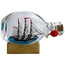 Boat-or-Ship-in-Pinch-Bottle Ship In A Bottle Kits and Decor