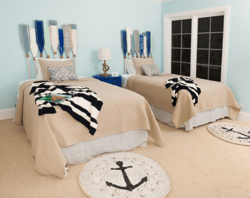 Browning-Nautical-Bedroom-Design-by-Brick-and-Mortar-Home-and-Outdoor 101 Beach Themed Bedroom Ideas