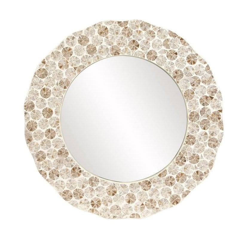 Capiz-Shell-Wall-Mirror Seashell Mirrors and Capiz Mirrors