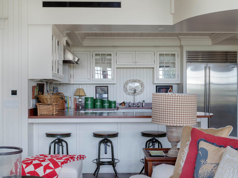Car-Barn-Cottage-by-Patrick-Ahearn-Architect 101 Beautiful Beach Cottage Kitchens