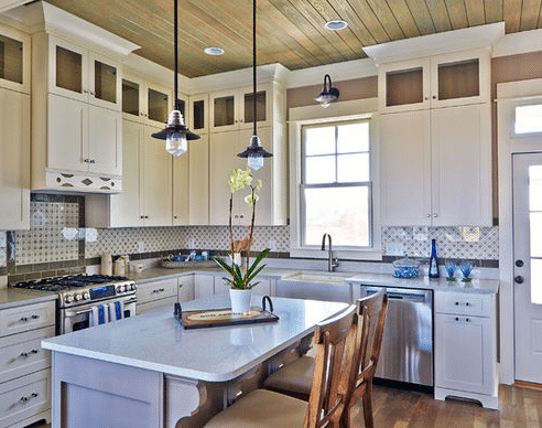 Cassatt-Row-Cottage-Bay-Creek-by-Allison-Ramsey-Architects 101 Beautiful Beach Cottage Kitchens