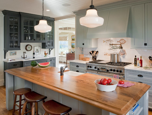 Charlestown-Beach-Cottage-2-by-Dennis-Moffitt-Painting 101 Beautiful Beach Cottage Kitchens