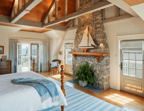 Charlestown-Beach-Cottage-by-Dennis-Moffitt-Painting-1 101 Beach Themed Bedroom Ideas