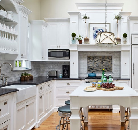 Classic-Cottage-by-Jules-Duffy-Designs 101 Beautiful Beach Cottage Kitchens