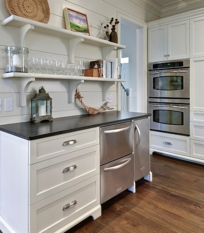 Classy-Cottage-by-Robert-Paige-Cabinetry-LLC 101 Beautiful Beach Cottage Kitchens