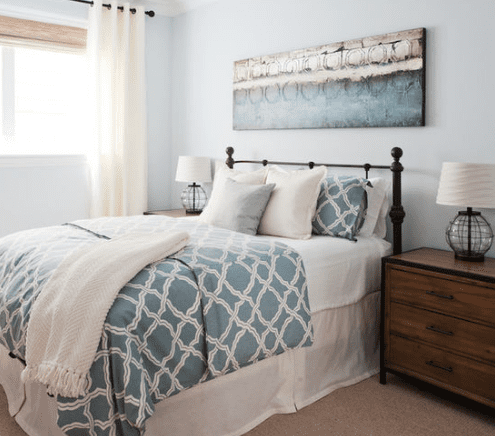 Coastal-Luxe-Bedroom-by-Lindye-Galloway-Interiors 101 Beach Themed Bedroom Ideas