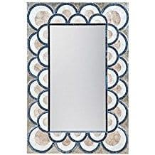 Elk-Lighting-Art-Deco-Capiz-Shell-Mosaic-Wall-Mirror Seashell Mirrors and Capiz Mirrors