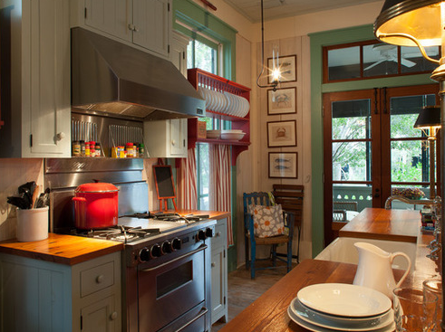 Fish-Camp-Beach-Cottage-2-by-Historical-Concepts 101 Beautiful Beach Cottage Kitchens