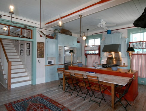 Fish-Camp-Beach-Cottage-by-Historical-Concepts 101 Beautiful Beach Cottage Kitchens