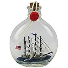 Flying-Cloud-Model-Ship-in-a-Glass-Bottle-4-Inch-Boat-in-A-Bottle Ship In A Bottle Kits and Decor