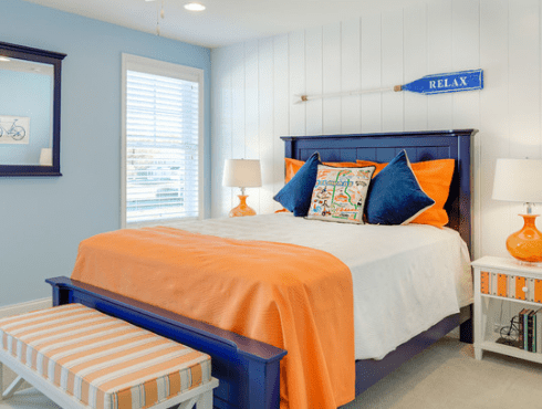 Guest-Bedroom-The-Kingfisher-2.0-by-Schell-Brothers 101 Beach Themed Bedroom Ideas