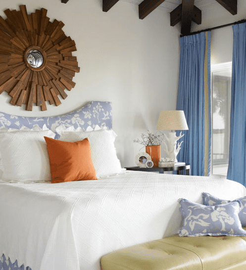 Guest-Bedroom-by-Carter-Kay-Interiors 101 Beach Themed Bedroom Ideas
