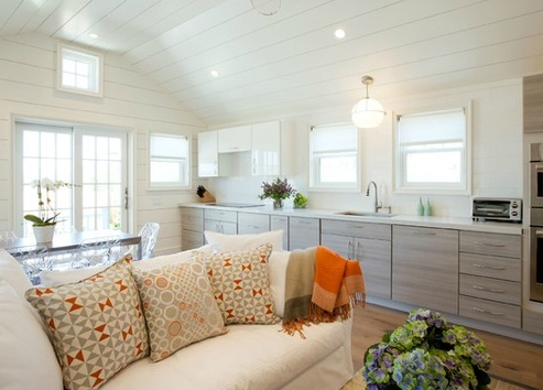 Guest-Cottage-by-Audrey-Sterk-Design 101 Beautiful Beach Cottage Kitchens