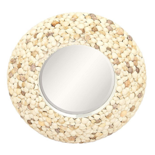 GwG-Outlet-Wooden-Shell-Wall-Mirror Seashell Mirrors and Capiz Mirrors