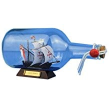 Hampton-Nautical-Santa-Maria-Ship-in-a-Bottle Ship In A Bottle Kits and Decor