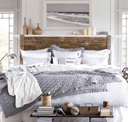 Headboard-For-Lexington-Clothing-Co-by-JNMRustic-Designs 101 Beach Themed Bedroom Ideas