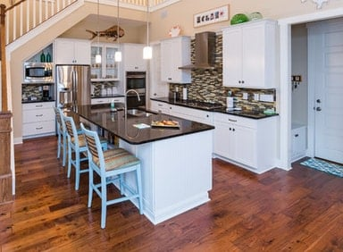 Jacksonville-Beach-Cottage-by-Starr-Custom-Homes 101 Beautiful Beach Cottage Kitchens