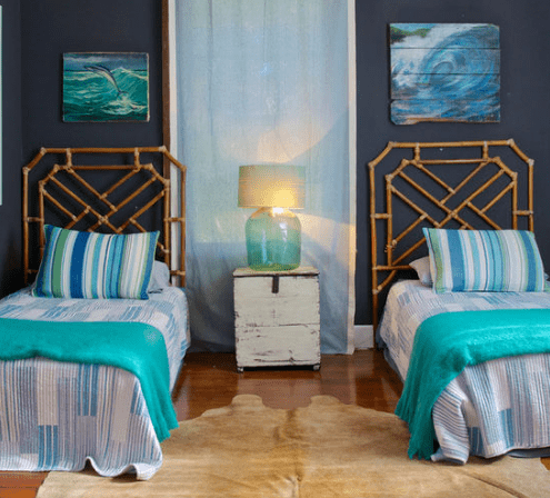Jacksonville-Beach-Style-Bedroom 101 Beach Themed Bedroom Ideas