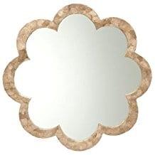 KOUBOO-Flower-Capiz-Seashell-Wall-Mirror Seashell Mirrors and Capiz Mirrors