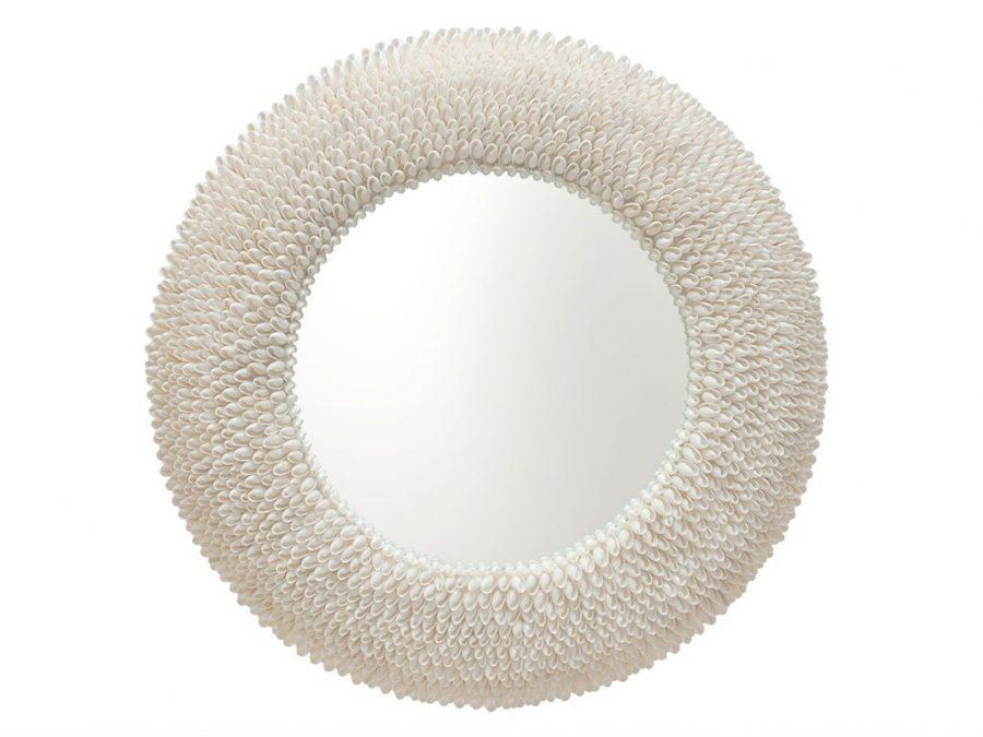 KOUBOO-Round-Bubble-Seashell-Wall-Mirror Seashell Mirrors and Capiz Mirrors