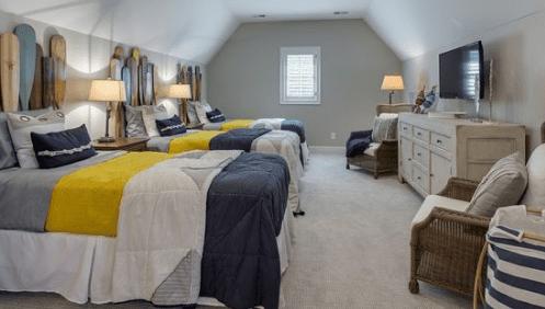 Orono-Lake-Cottage-by-Stonewood-LLC 101 Beach Themed Bedroom Ideas